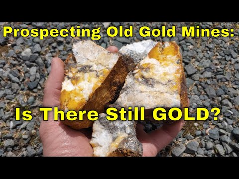 Gold Prospecting & Sampling Old Gold Mines For Forgotten Gold