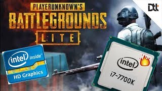 It's Playable But...PUBG Lite on Intel's HD Graphics