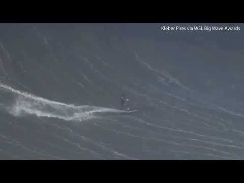 Terrifying moment champion surfer has back broken by GIANT wave