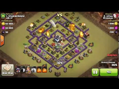 Clash of clans Clan Wars episode 1. LOL LT vs Myanmar.