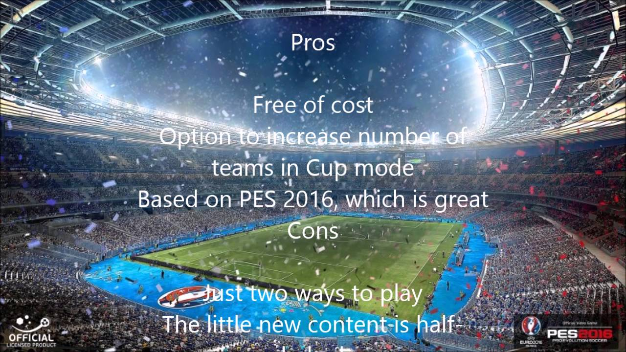 c823476ce2 PES 2016  UEFA Euro 2016 Review - YouTube