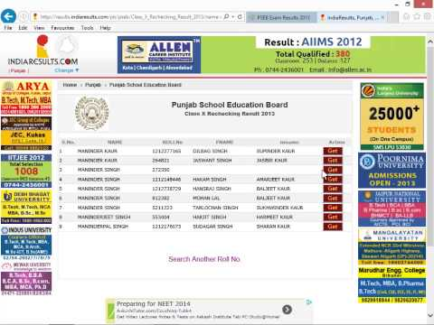 Check Result On Punjab School Education Board PSEB website in Punjabi