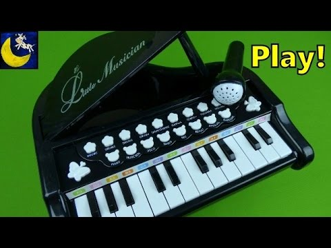Toy Baby Grand Keyboard with Microphone Mallya Little Pianist Musician 24 Keys Piano Toys for Kids