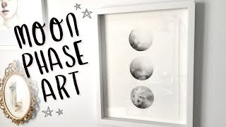 Watercolor Moon Phases DIY🌙 🌑 🌕 Everything Changes (Painting Tutorial and Chat)