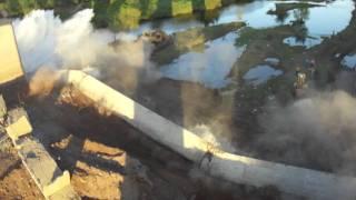 El final del Puente del Río Fuerte en San Miguel