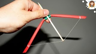 How to make a mini Bow and Arrow - (Paper Bow)