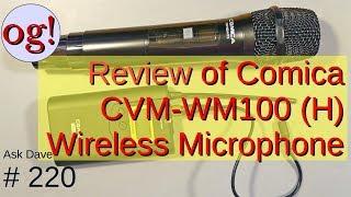Review van Comica CMV-WM100 (H) Draadloze Microfoon (#220)