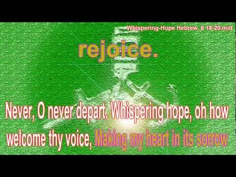 Whispering Hope - Septimus Winner 1868 - Public Domain - Karaoke