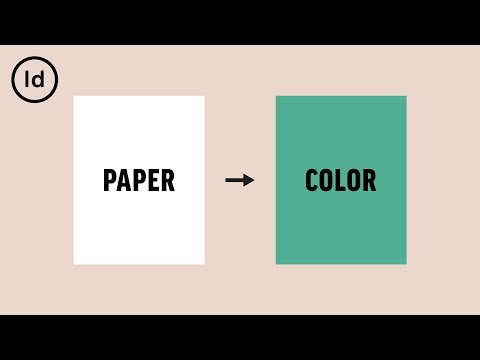 How To Change The Background Color   InDesign Tutorial