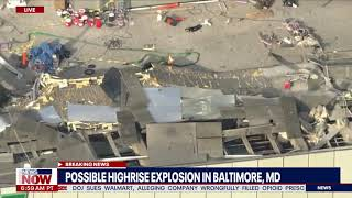 BREAKING: Multiple people injured, Rescue Underway after Baltimore Gas & Electric Offices EXPLOSION
