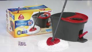 Live Commercial: Check Out This O-Cedar EasyWring Spin Mop & Bucket!