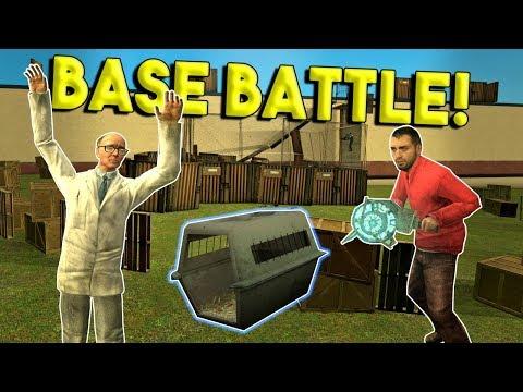 BASE BUILD & CAPTURE CHALLENGE! -  Garrys Mod Gameplay - Gmod Multiplayer Sandbox Challenge