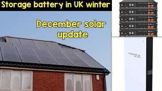 Does a home battery work in UK winter? December solar update