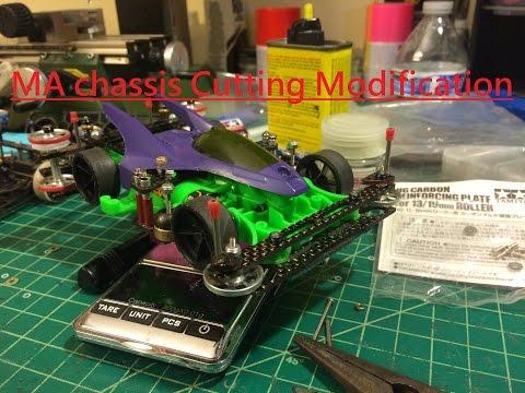 Tamiya Mini 4wd Tutorial MA chassis Basic cutting modification Verison 1