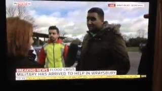 AMYA help flood victims in Wraysbury -  SKY News