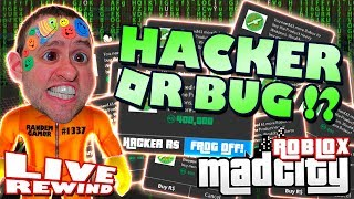 HACKER OR BUG !? MAD CITY GamePass SPAM ! Road to 4000 ► Roblox Funny Comedy PRO PC 🔴 Live Rewind
