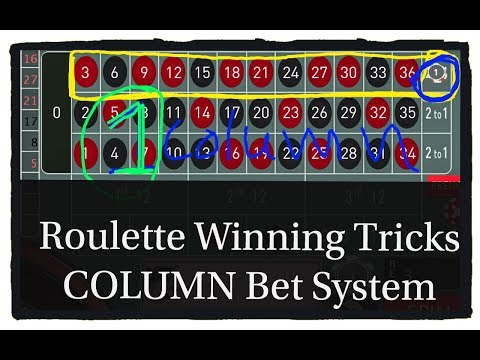 Roulette Winning Tricks  COLUMN BET casino Slot