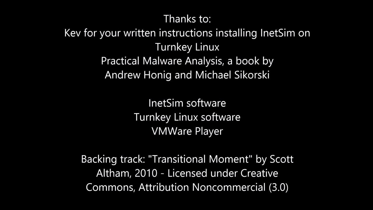 Setup INetSim on virtual machine to serve malware testbed