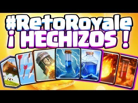 CONSIGO GANAR SOLO CON HECHIZOS!!!   #RetoRoyale   Clash Royale