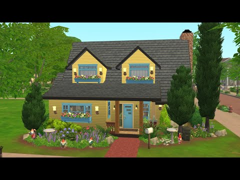 Retro yellow house (speedbuild) |