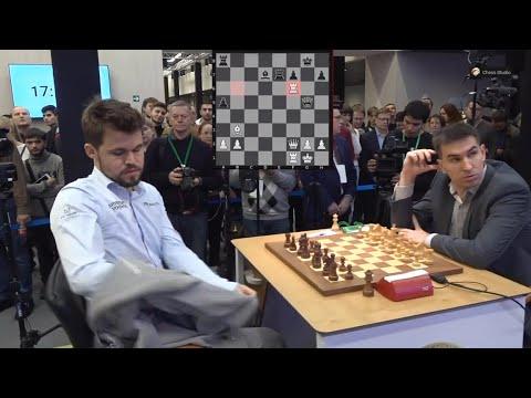 Carlsen defenses!!! Dmitry Andrekin Vs Magnus Carlsen | World Blitz Chess Championship 2019 Round 7