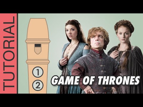 Game Of Thrones Theme - Recorder Notes Tutorial