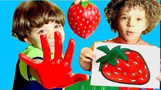 Learn #Colors & Fruit Names with Fun Fruits Story comes to life! & Paint #Kids #Toys