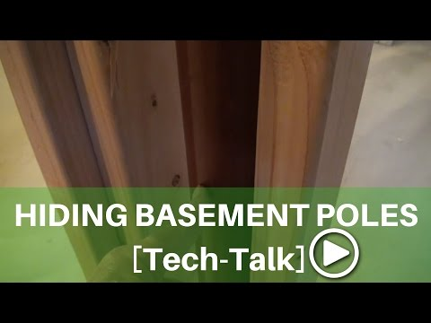 How to Hide Basement Support Poles