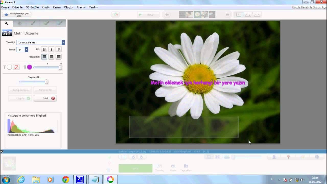picasa resime yaz ekleme forumexecom mf coder