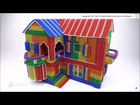 How To Build Mini Villa Model From Magnetic Balls