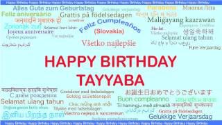 Tayyaba   Languages Idiomas - Happy Birthday