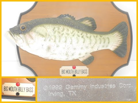 Big Mouth Billy Bass 1999 Vintage Retro Gemmy Animated Singing Fish