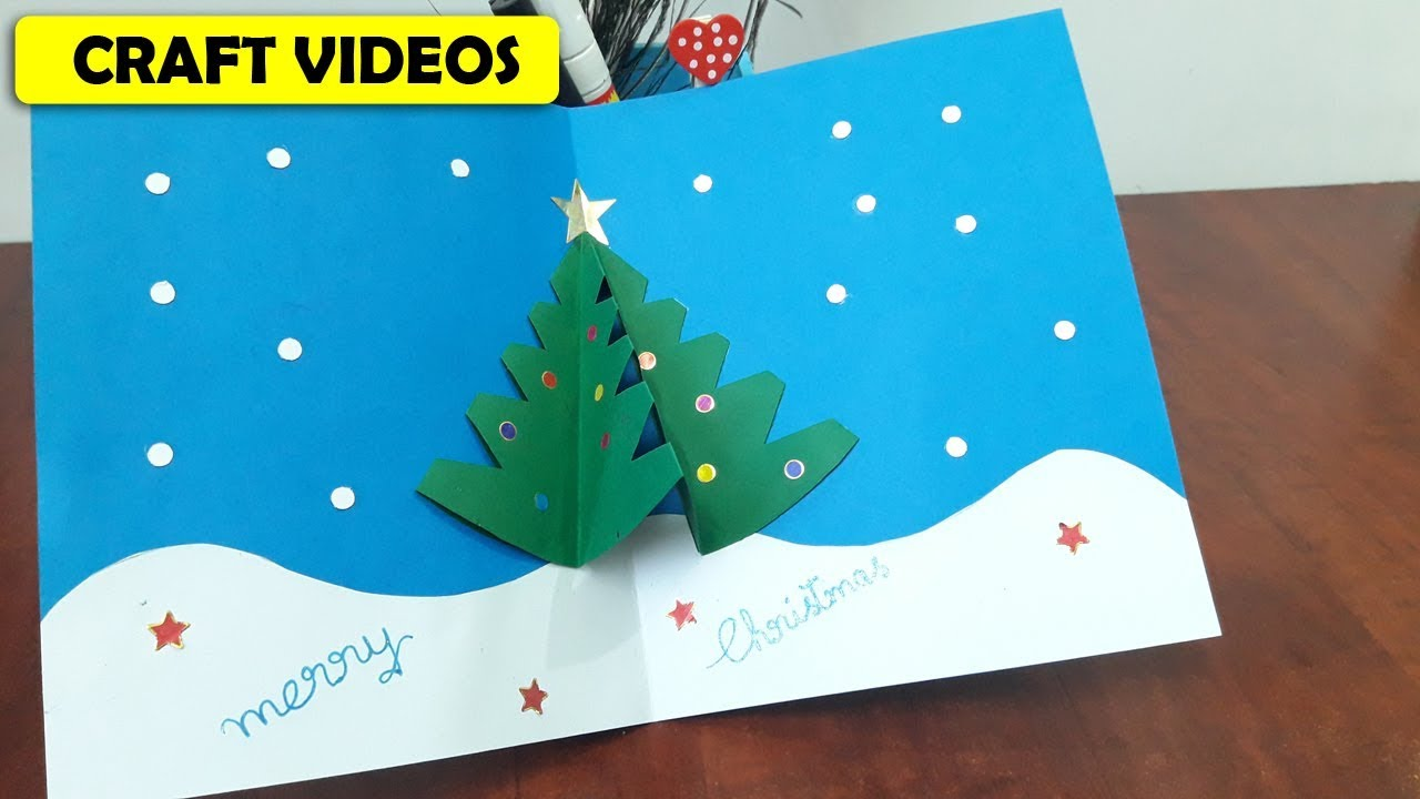 How to make christmas tree cards at home step by step youtube how to make christmas tree cards at home step by step kristyandbryce Choice Image