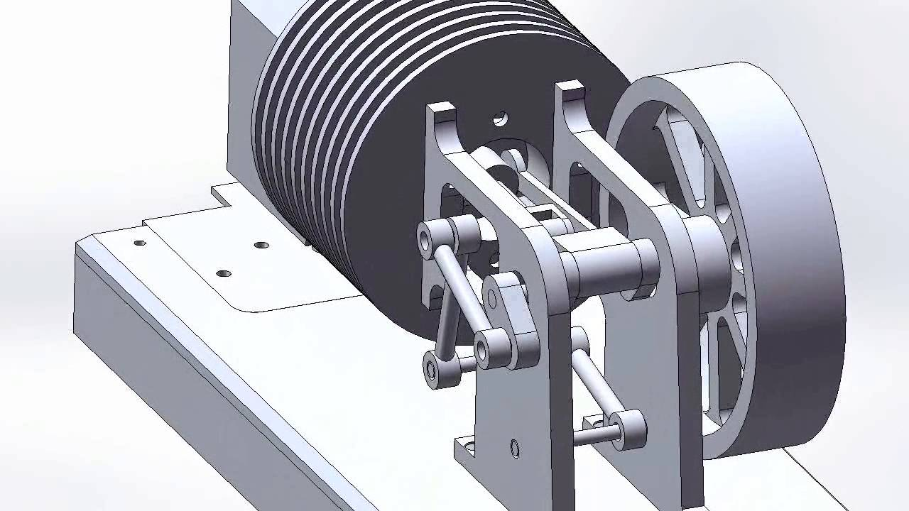 Stirling engine animation plans animacja silnika stirlinga plany youtube for Stirling engine plans design blueprints