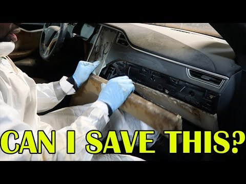 Can We Save This Sewage Tesla's Interior?