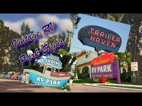 Vintage RV Park Signs