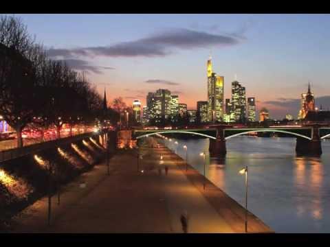 Frankfurt Skyline in Motion Time-Lapse - Dusk to Night