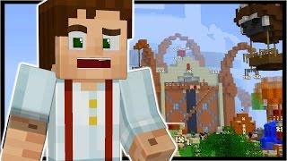 JESSE INVADES REAL MINECRAFT!!! | Minecraft Story Mode In Minecraft