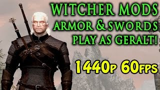 Skyrim Special Edition - Witcher Armor & swords / Geralt mods (PC & Xbox One)
