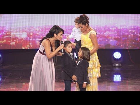 Karla Tarazona se emocionó al máximo al ser sorprendida por sus tres hijos en Qué tal Sorpresa