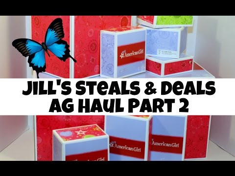 Jill's Steals & Deals | PART 2 | Unboxing Food Accessories & Outfits For American Girl Dolls