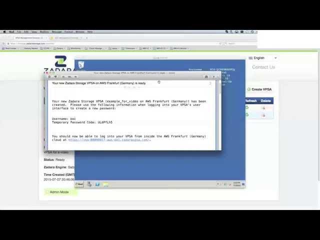 Episode 3: Zadara Storage Virtual Private Storage Array (VPSA) Configuration