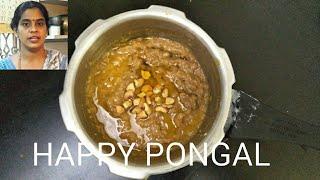 Pongal  Sakkarai Pongal   How to make Sakkarai Pongal in Pressure Cooker