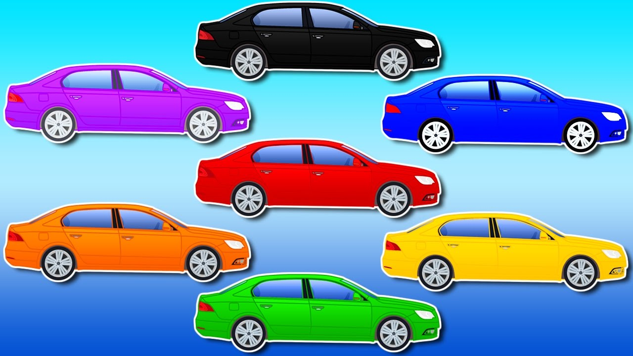 Colors For Children To Learn With Street Vehicles Paint Cars Car