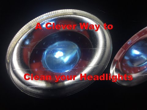 Clean your Headlight without splitting the housing!