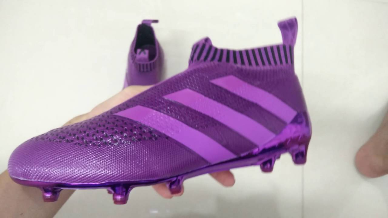 2e3ccd1dcfd Adidas ACE 16+ PURECONTROL Purple Soccer Boots Review Soccer Shoes Football  Shoes