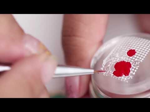 BORN PRETTY rose stripe nail design tutorial thumbnail