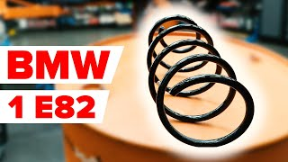 How to replace front springs / front coil springs on BMW E82 [TUTORIAL AUTODOC]