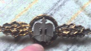 WORLD WAR TWO GERMAN AIR FORCE OPERATIONAL FLYING CLASP,DAY FIGHTERS,GILT CLASS