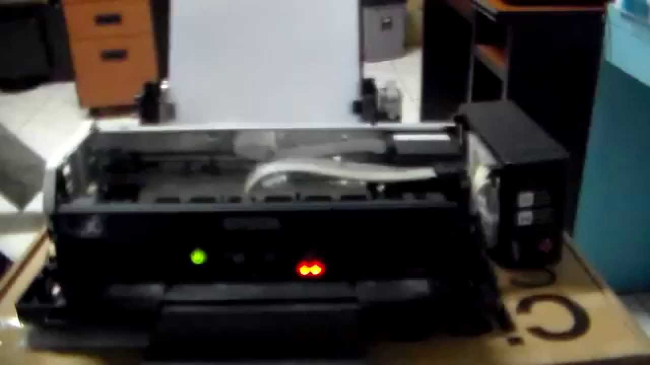 Service Printer Epson L210 Kertas Tarik Banyak Youtube
